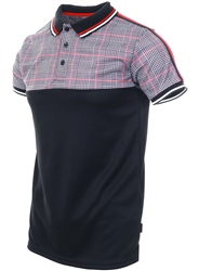 Soulstar Red /Black Checked Polo Shirt