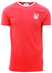 Siksilk Red Short Sleeve Elastic Cuff Tee