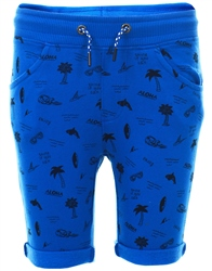 Threadbare Blue Blake Printed Pattern Shorts