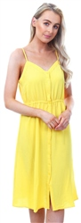 Veromoda Yellow Singlet Midi Dress