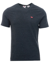 Levi's Tri-Blend + Patch Obsidian Heather - Grey Short Sleeve Original Logo Tee