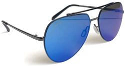 Raymond B Mutli /Blue Aviator Sunglasses