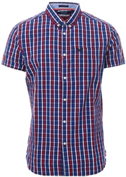 Superdry Navy University Oxford Short Sleeve Shirt
