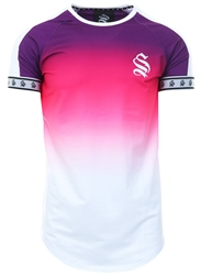 Sinners Attire Purple/White Dip Dye Fade Tee