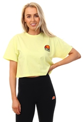 Ellesse Yellow Manila Crop T-Shirt