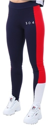 304 Navy Ruby Panel Leggings