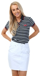 Superdry Navy Stripe Classic Polo Top