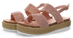 Krush Rose Gold Panel Platform Sandal