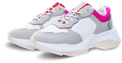 No Doubt White Rosso Panel Chunky Trainer