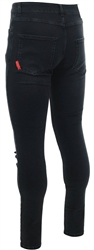 11degrees Black Essential Super Stretch Distressed Jean Skinny Fit