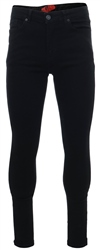 11degrees Jet Black Essential Super Stretch Jeans Skinny Fit