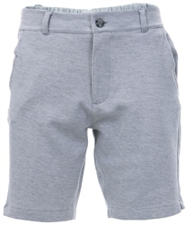 Nines Light Grey Hydra Cotton Blend Pique Shorts