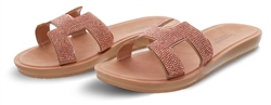 Dv8 Rose Gold Slip On Sandal