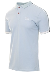 Tokyo Laundry Blue Finley Polo Shirt With Tape Detail