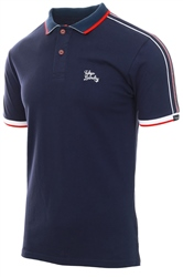 Tokyo Laundry Navy Finley Polo Shirt With Tape Detail