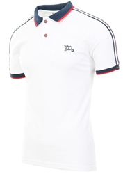 Tokyo Laundry White Finley Polo Shirt With Tape Detail