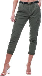 Noisy May Olive Relaxed Fit Cargo Pants