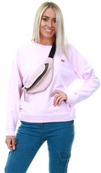 Levi's Pink Lady - Pink Relaxed Graphic Crew
