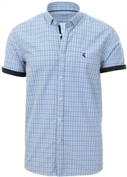Ottomoda Blue Check Short Sleeve Shirt