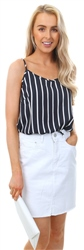 Jdy Navy Spaghetti Sleeveless Top