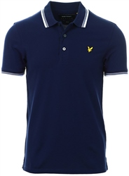 Lyle & Scott Navy Tipped Slim Stretch Polo Shirt