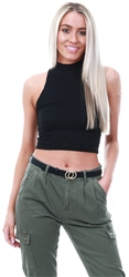 Parisian Rib Knit Crop Top