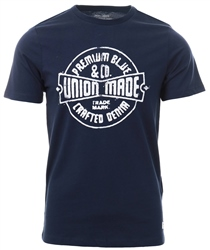 Jack & Jones Navy Blazer Printed T-Shirt