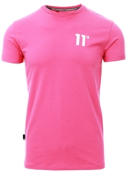 11degrees Bright Pink Core Muscle Fit T-Shirt