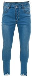 Kings Will Dream Light Blue Denim Carlton Cropped Distressed Jeans