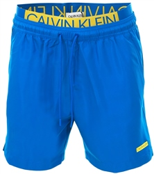 Calvin Klein Imperial Blue Medium Double Waistband Swim Shorts