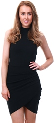 Black High Neck Dress by Ax Paris