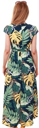 Ax Paris Navy Navy Floral Print Dress