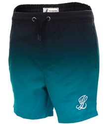 Illusive London Black/Green Two Tone Swim Short