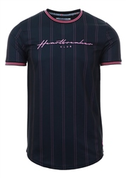 Heartbreaker Club Black /Pink Irvine Stripe T-Shirt