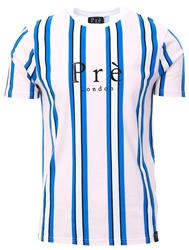 Pre London Pink/Blue Stripe Short Sleeve T-Shirt