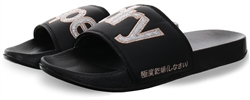 Superdry Black/Silver Eva Pool Sliders