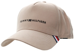 Hilfiger Denim Safari Diagonal Signature Tape Baseball Cap