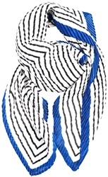Impulse White/Black/Blue Neck Scarf
