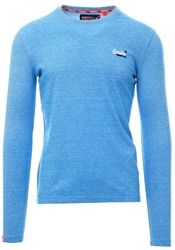 Superdry Royal Blue Textured Long Sleeve Top