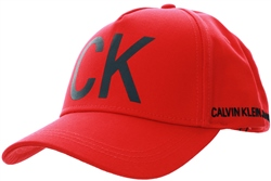 Calvin Klein Red Cotton Baseball Cap