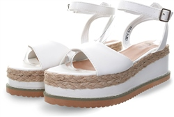 No Doubt White Pu Platform Sandal