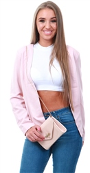 Only Rose Smoke Short Blazer
