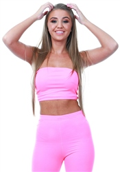 Parisian Pink Bandeau Crop Top
