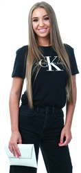 Calvin Klein Black Straight Logo T-Shirt