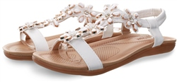 Krush White Embellished Stud Sandal