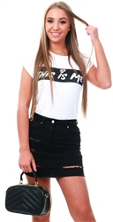 Parisian White This Is Me Logo T-Shirt