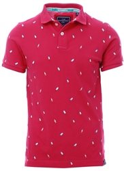 Superdry Ice Lolly Bright Coral Bermuda City Polo Shirt