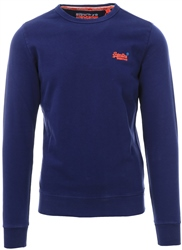 Superdry Beachwater Blue Orange Label Pastel Line Crew Sweatshirt