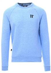 11degrees Baby Blue Core Swearshirt