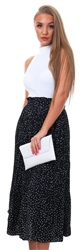 Qed Black Polka Dot Skirt